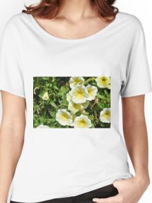 Yellow light flowers in the park. Women's Relaxed Fit T-Shirt