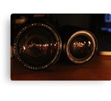 Camera Lens Candle Reflection 2 Canvas Print