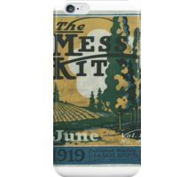The mess kit Vol. 1, no. 4. June iPhone Case/Skin