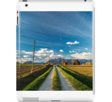 Abandoned farm in the countryside iPad Case/Skin
