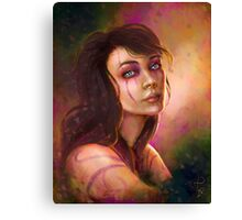 Shaman girl digital fantasy portrait Canvas Print