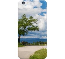 lonely tree on a country road iPhone Case/Skin