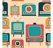 Retro TVs and Radios Photographic Print