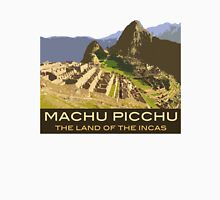 Machu Picchu Commemorative Souvenir Design, in Vintage Travel Poster Style Unisex T-Shirt
