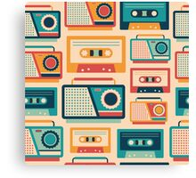 Audio Cassettes and Radios Canvas Print