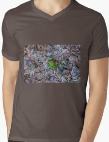 Moss, Leaves and Frost Mens V-Neck T-Shirt