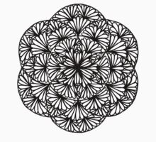 Flowery seed of life, grayish green - One Mandala A Day One Piece - Short Sleeve