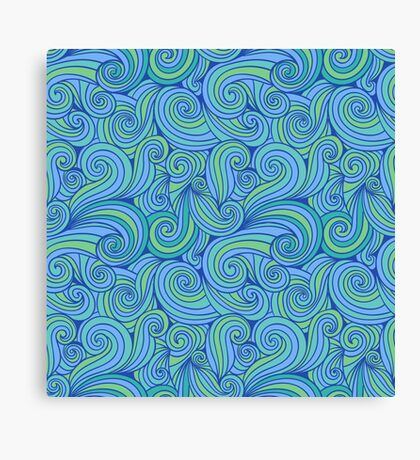Abstract Blue Green Tones Canvas Print
