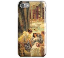 the-baths-of-caracalla-by Lawrence Alma-Tadema iPhone Case/Skin