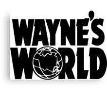 Wayne's World (Inverted) Canvas Print