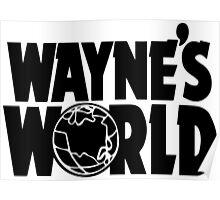 Wayne's World (Inverted) Poster