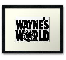 Wayne's World POCKET TEE (Inverted) Framed Print