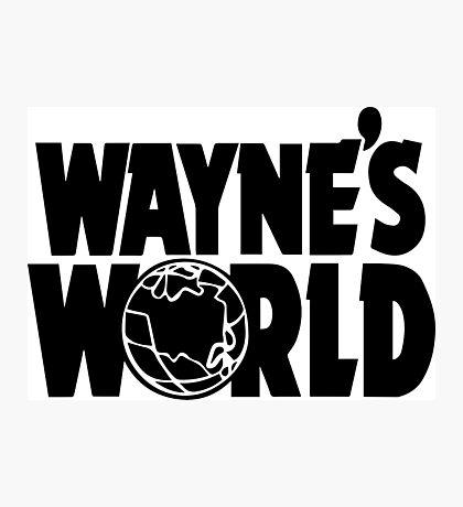 Wayne's World POCKET TEE (Inverted) Photographic Print