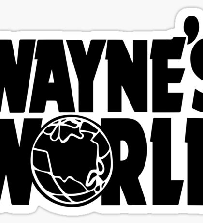 Wayne's World POCKET TEE (Inverted) Sticker