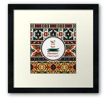 Seamless vivid pattern in tribal style Framed Print