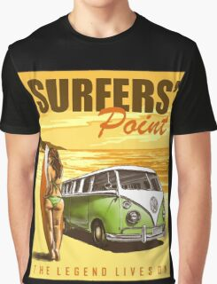 VW Kombi Surf Design Graphic T-Shirt