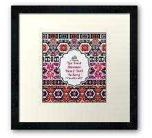 Bright  pattern in tribal style Framed Print