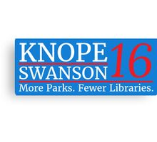 Vote Knope Swanson 2016 Canvas Print