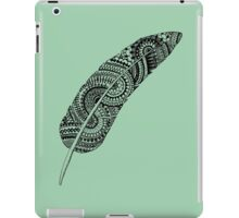 Feather zentangle, greyish green - One Mandala A Day iPad Case/Skin