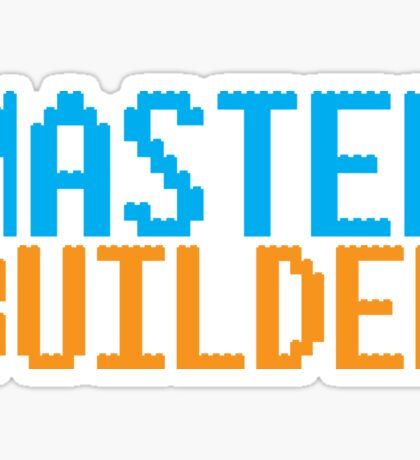 MASTER BUILDER with toy bricks Sticker