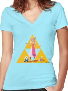 Princess Zelda Women's Fitted V-Neck T-Shirt