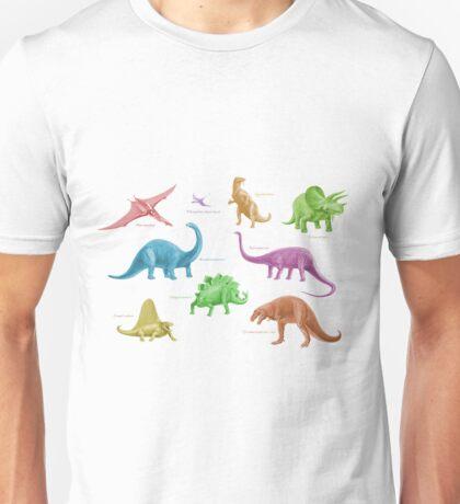 Dinosaur Montage - multicoloured Unisex T-Shirt