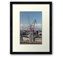 crane at the port Framed Print
