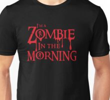 Zombie in the morning in blood drip Unisex T-Shirt