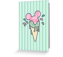 Mickey Icecream Splash Greeting Card