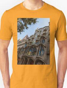Looking Up to a Masterpiece - Antoni Gaudi's Casa Batllo in Barcelona, Spain T-Shirt