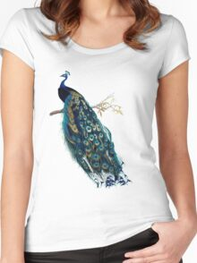 Vintage Peacock  Women's Fitted Scoop T-Shirt