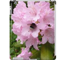 Pink flower and bee iPad Case/Skin