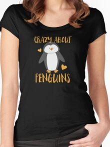 Crazy about penguins Women's Fitted Scoop T-Shirt
