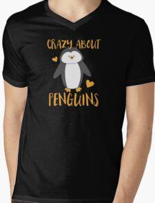 Crazy about penguins Mens V-Neck T-Shirt