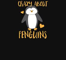 Crazy about penguins Womens Fitted T-Shirt