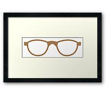 pair of brown nerd glasses Framed Print