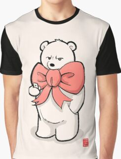 Polar Bear In Pink Ribbon Graphic T-Shirt