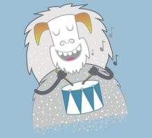 I like to play — WHITE snow yeti  One Piece - Short Sleeve