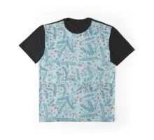 red flowers watercolor repeat Graphic T-Shirt
