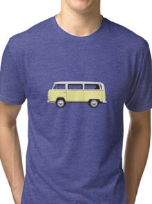 Tin Top Early Bay standard pale yellow and  white Tri-blend T-Shirt