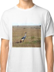 Grey Crowned Crane on the Masai Mara Classic T-Shirt