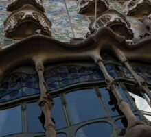 House of Bones - Antoni Gaudi's Casa Batllo in Barcelona, Spain Sticker