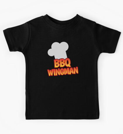 BBQ wingman with a chef hat Kids Tee