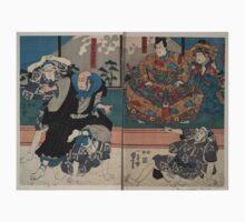Kuniyoshi Utagawa - Sato Norikiyo & Yoshinaka - Circa 1850 - Woodcut Baby Tee