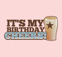 It's my BIRTHDAY CHHERS! beer pint and STAR Kids Tee