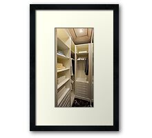 interior dressing room Framed Print