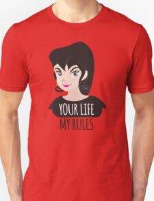 YOUR LIFE MY RULES awesome punk chick with black hair Unisex T-Shirt