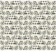 Retro bicycles Photographic Print