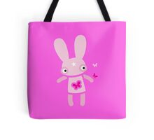 Pink rabbit Friday flutter-byes Tote Bag