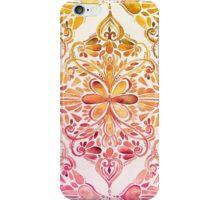 Sunset Art Nouveau Watercolor Doodle iPhone Case/Skin